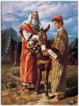 İbrahim oğlu İshak'ı kurban ederken