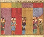Mohammed Received by the Four Angels; Persia, 1436.