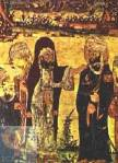 Orta Çağa özgü Muhammed'i (sağda) gösteren bir tasvir