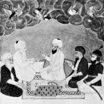 Ebu Bekir'in tasviri (Solda ikinci kişi)