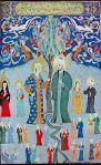 Muhammed'in miraca yükselmesi (ressam: Jami Al-Tawarikh)