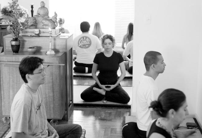 Bir Budist meditasyondan